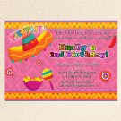 Mexican Fiesta Engagement Party Invitations Sombrero Margarita Birthday Baby Bridal Shower