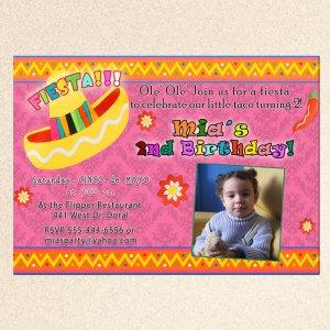 20 Mexican Fiesta Birthday Engagement Party Photo Invitations Sombrero Margarita
