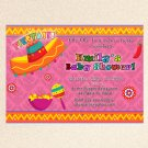 20 Mexican Fiesta Birthday Engagement Party Pink Invitations Sombrero Margarita