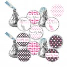 Hershey Kiss stickers - Printable Baby Girl Shower Elephant Candy Labels