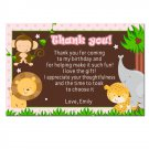 Printable Personalized Jungle Thank You Notes - Baby Shower or Birthday
