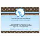 30 Baby Boy Shower Blue Brown Elephant Invitations - Also Birthday