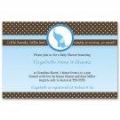 30 Baby Boy Shower Blue Brown Elephant Invitations - Also Birthday