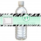 25 Personalized Baby Feet Baby Shower Baptism Bottle Wrappers Lime Green