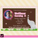 Printable Birthday Baby Girl Shower Pink Elephant Invitations