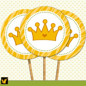Printable Cupcake Toppers Tags Stickers Baby Shower Jungle Prince