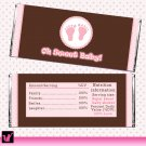 Printable Coral Stripes Candy Bar Wrapper - Sweet 16 Birthday