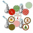 Stickers for Hershey Kiss - Printable pdf Christmas Holiday Party