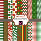 Christmas Holiday clipart digital background paper graphics