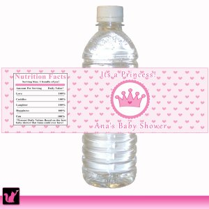 Printable Princess Water Bottle Labels Wrappers Birthday Party