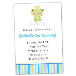 Printable Baby Shower or Birthday Prince Frog Invitations
