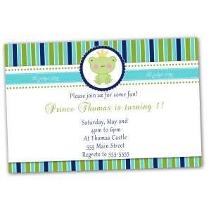 30 Prince Frog Crown Invitations Birthday Party Baby Shower