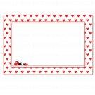 30 Blank Ladybug Valentines Card Notes