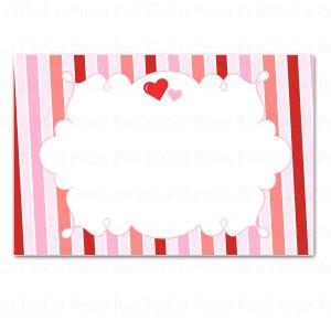 Printable Blank Valentines Love Day Card