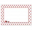 Printable Blank Ladybug Valentines Love Day Card