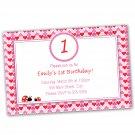 Printable Valentines Love Day Inspired Birthday Invitations