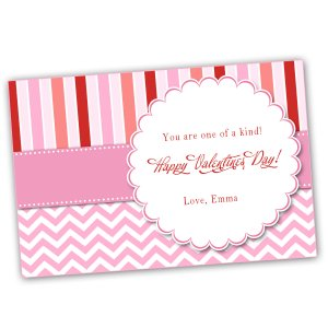 Printable Personalized Valentines Love Day Card
