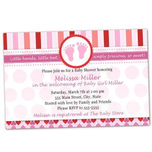 30 Valentines Love Day Inspired Baby Shower Invitations