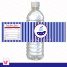 Printable Nautical Water Bottle Labels Wrappers - Birthday Party Baby Shower Custom Wraps