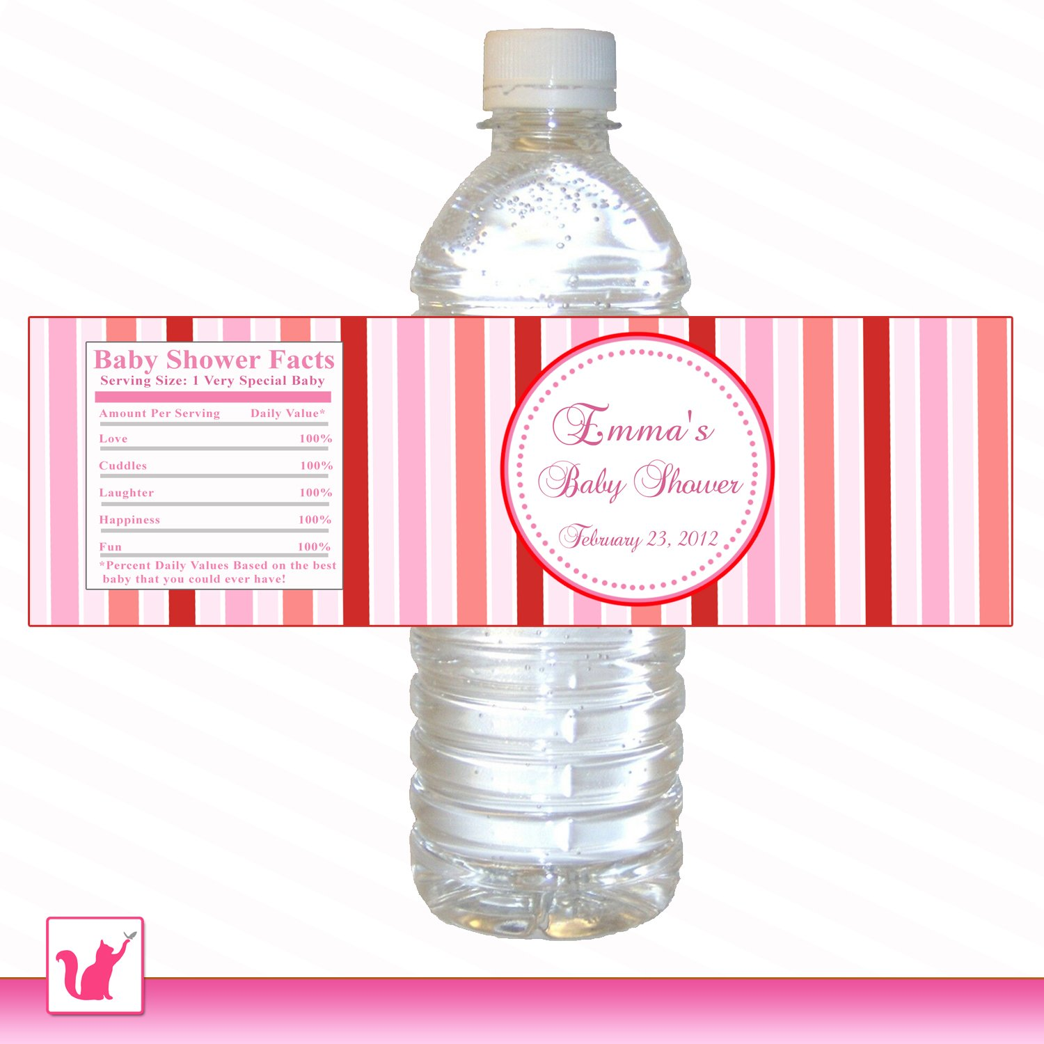 Printable Valentines Water Bottle Labels Wrappers