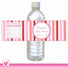 Printable Valentines Water Bottle Labels Wrappers - Birthday Party Baby Shower