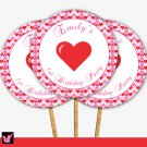 Printable Personalized Valentines Love Day Cupcake Topper