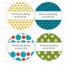 Printable Polka Dots Thank You Tags