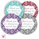 40 Personalized Damask Vintage Thank You Tags - Suitable For Any Occasion