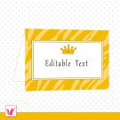 Printable Personalizable Blank Jungle Prince Tent Card