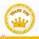 40 Personalized Jungle Prince Thank You Tags - Baby Shower Birthday