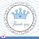 40 Personalized Cute Prince Thank You Tags - Baby Shower Birthday