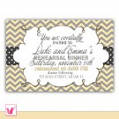 Printable Personalized Chevron Rehearsal Dinner Bridal Shower Wedding Engagement Invitation