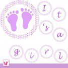 'Happy Birthday' or 'Its a Girl' Printable Polka Dots Banner - Baby Shower Birthday Any Occassion
