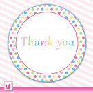 40 Personalized Sweetshop Candyland Thank You Tags 2 - Baby Shower Birthday Occassions