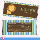 Printable Personalized Cute Lion Candy Bar Wrapper - Birthday Party