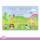 30 Personalized Adorable Story Book Birthday Invitation - Boy Girl Unisex Any Occassion