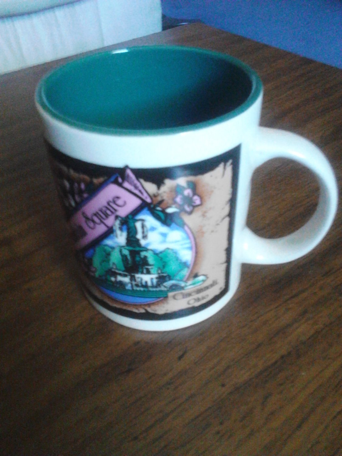 collectable coffee cup,mug fountain square cincinnati ohio pre-owned nice