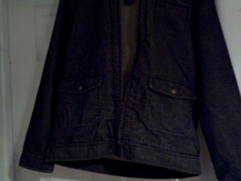 mens denim coat size XL cherokee dark blue pre-owned nice