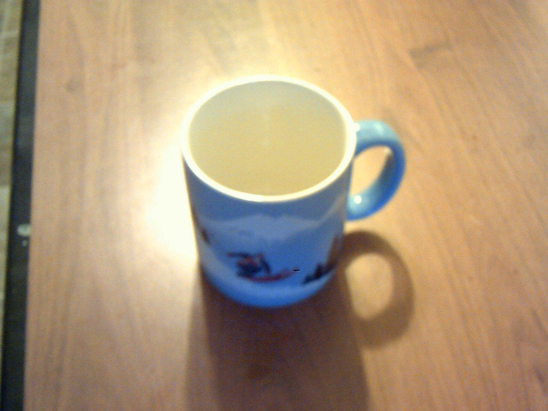 collectable coffee cup,mug otagiri japan blue skier neat