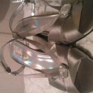Womens hi heel shoes silver strappy 9M jacqueline ferrar pre-owned