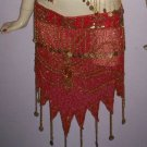Red Fine Rare Dance hip scarf Comfort wear