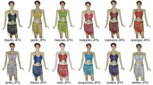 Butterfly Style Belly Dance Costume