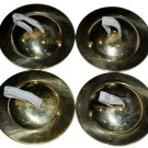 Golden Tuned Plain Zills Finger Cymbals 2 hole Free ship