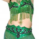 Green good looking color Dance Costume 2267 plus