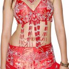 Red handmade Dance Costume Orientel DANCE EHS