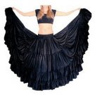 Flamenco-skirts for flamenco Dance satin fabric indiantrends black satin