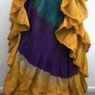 TRIBAL DANCE ATS JAIPUR SKIRT Tie Dye Tri color