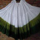 25 Yard 4 Tier Skirt Dance Tribal Skirt  100%  cotton hand tie  dye