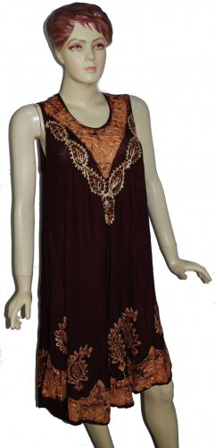 Wholesale lot of 8 Summer maternity rayon dress - womenclothings