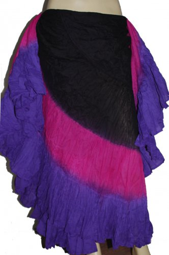 Large  25 yard Belly Dance skirts -  tie dye skirts variation Long 39""